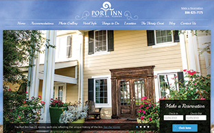 image of the Port Inn website, an Addy entry