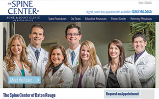 image of the Spine Center website