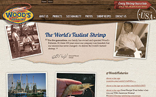 image of the Wood's fisheries website