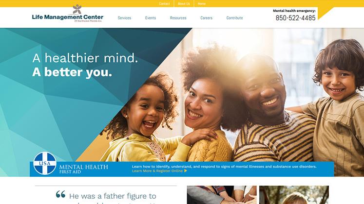image of Life Management Center Website page