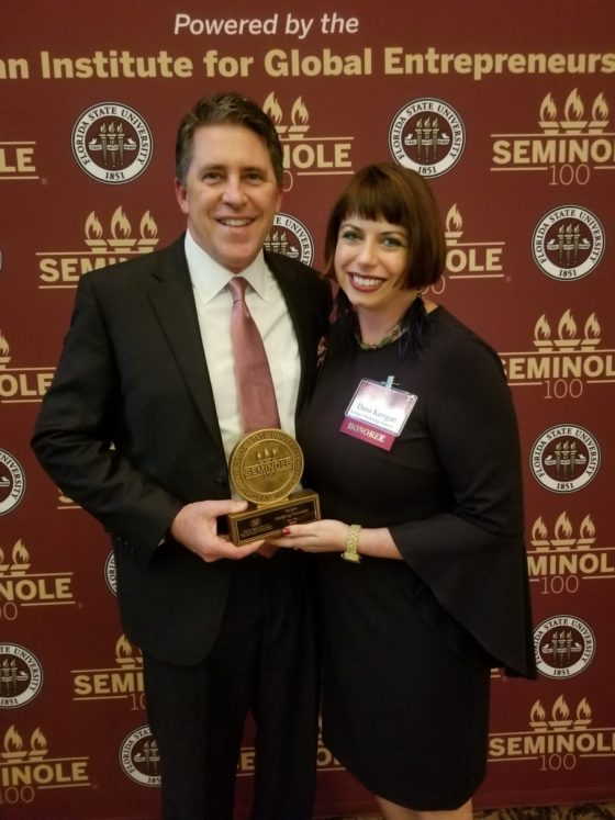 Image of Jack and Dana Kerigan at the FSU inaugural Seminole 100 ceremony.
