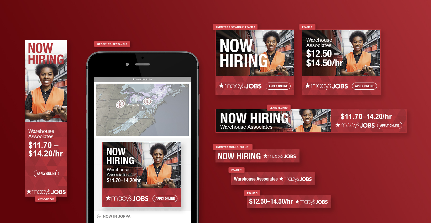 Now Hiring Digital Campaign for Macy's