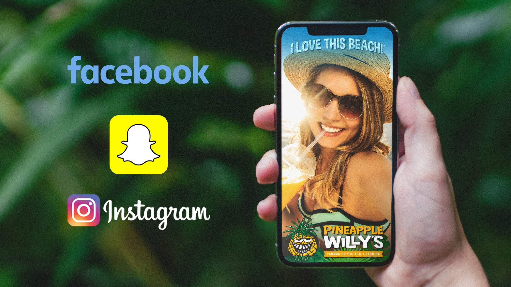 An image of the Pineapple WIlly's snapchat filter showing the power of a strong social media strategy.