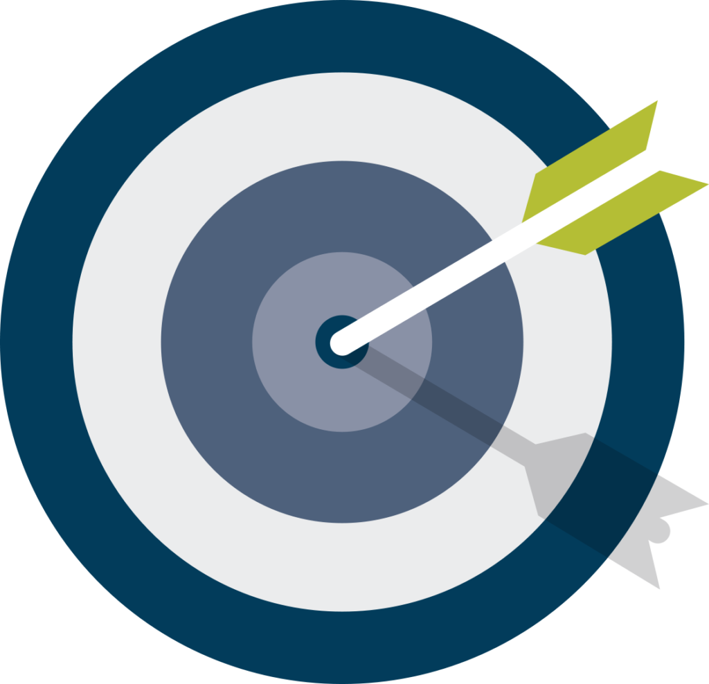 Image of a bulls eye and how Kerigan marketing can help you succeed using digital marketing services.
