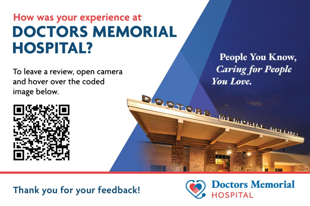 How was your experience at Doctors Memorial Hospital